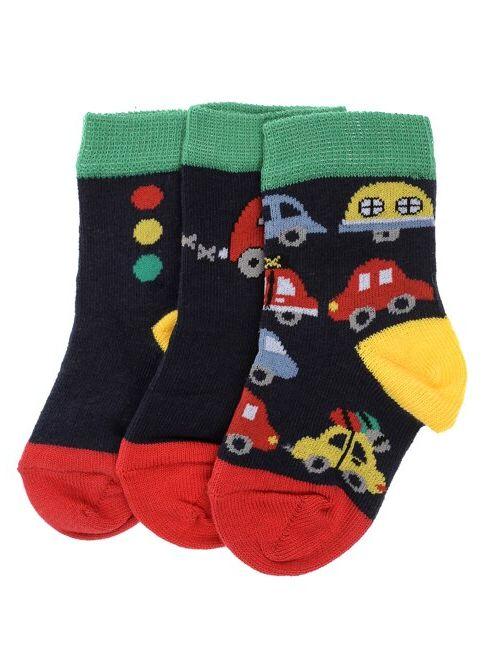 Soobe Erkek Bebek 3'lü Çorap Desenli İndirimli Fiyat