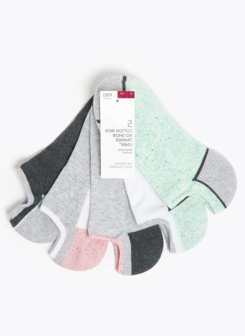 Marks \u0026 Spencer Kadın 5'li Babet Çorap Seti Grey Mıx-T4