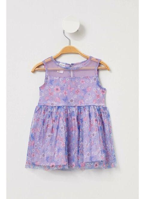 DeFacto Kız Bebek Elbise Mor